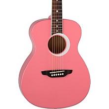 Luna Guitars Aurora Borealis 3/4 Size Acoustic Guitar Level 1 Pink Sparkle