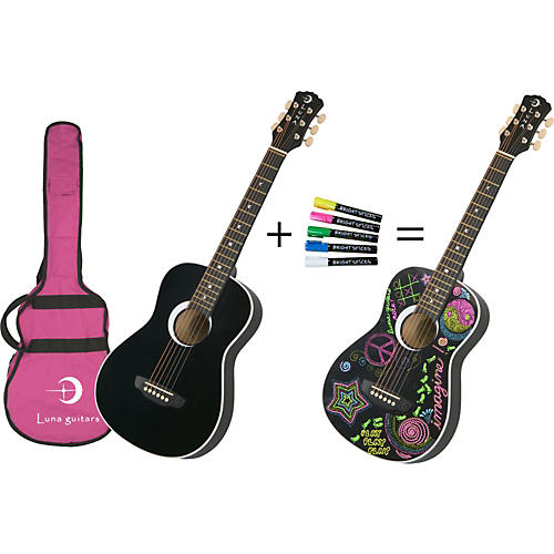 Luna Guitars Aurora Series Imagine Mini Acoustic Guitar
