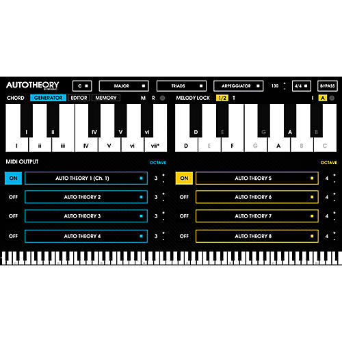 Mozaic Beats AutoTheory Automatic Chord Mapping Plug-in Software Download