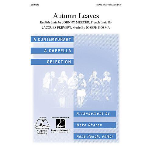Hal Leonard Autumn Leaves SSATB A Cappella arranged by Deke Sharon