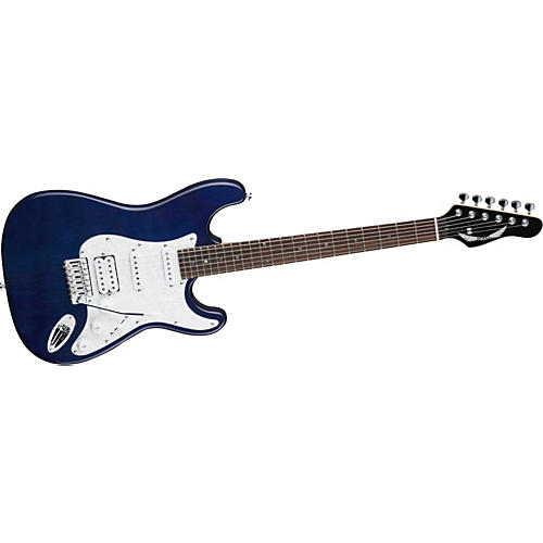 Dean Avalance Deluxe Electric Guitar Transparent Blue