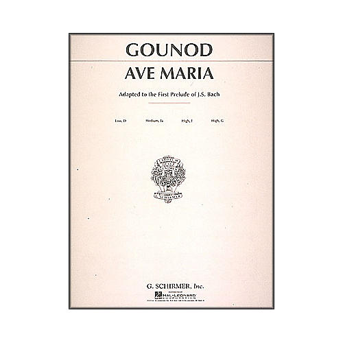 G. Schirmer Ave Maria In F for Medium High Voice By Bach / Gounod-thumbnail
