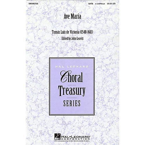 Hal Leonard Ave Maria (SATB a cappella) SATB a cappella arranged by John Leavitt