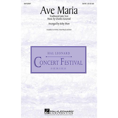 Hal Leonard Ave Maria SATB arranged by Kirby Shaw