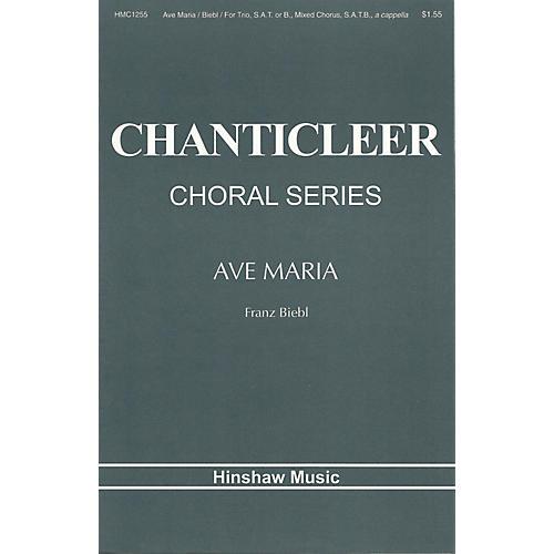 Hinshaw Music Ave Maria (Trio (SAT/B), SATB, Bass & Tenor Solo a cappella) SAT composed by Franz Biebl