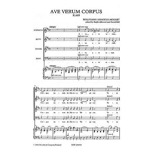 Novello Ave Verum Corpus SATB Composed by Wolfgang Amadeus Mozart