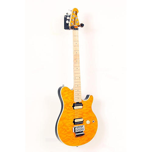 Ernie Ball Music Man Axis Electric Guitar Translucent Gold Matching Headstock, Maple Fretboard 888365363684