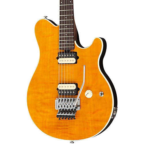 Ernie Ball Music Man Axis Electric Guitar with All Rosewood Neck Translucent Gold