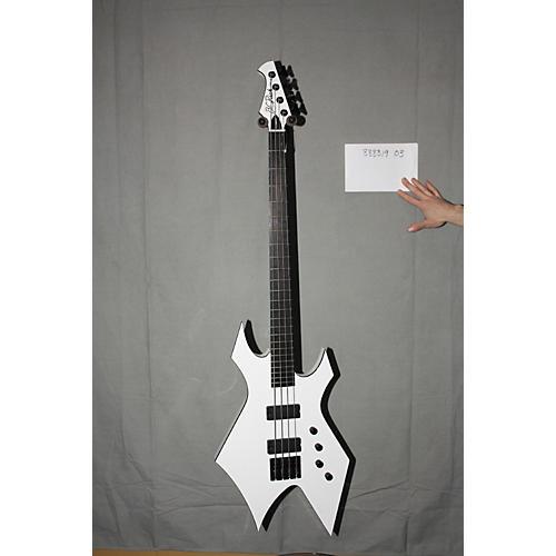 Used B.C. Rich Paolo Gregoletto Signature Warlock Bass White
