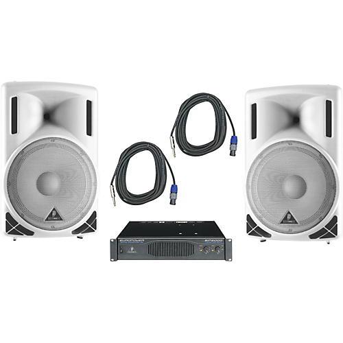 Behringer B215XL White / EP2000 Speaker & Amp Package