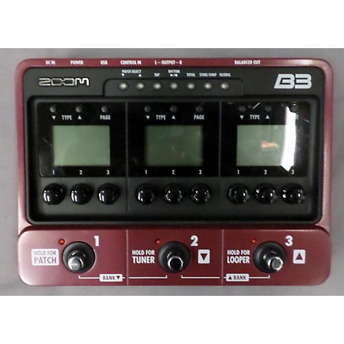 Zoom B3 Bass FX And Amp Simulator Bass Effect Pedal-thumbnail