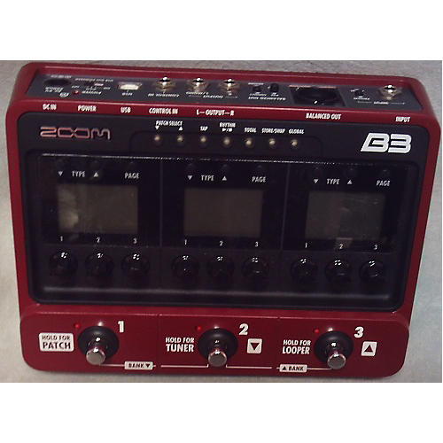 Zoom B3 Bass FX And Amp Simulator Bass Effect Pedal-thumbnail