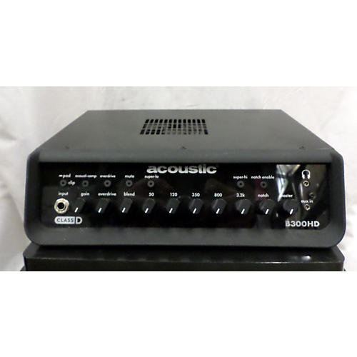 Acoustic B300HD 300w Bass Amp Head-thumbnail