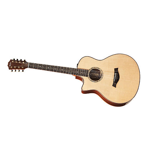 Taylor BAR-8-L Baritone Rosewood/Spruce 8-String Left-Handed Acoustic-Electric Guitar-thumbnail