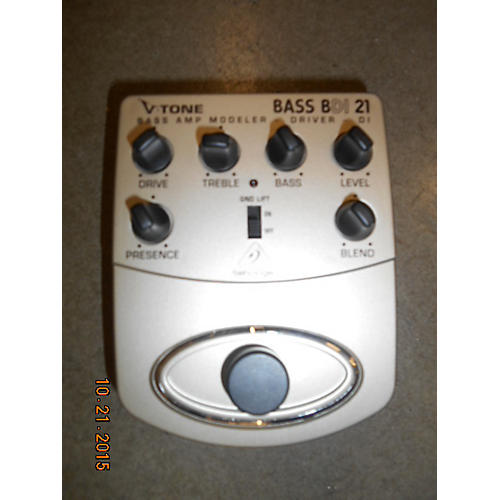 In Store Used BASS BDI 21 Bass Effect Pedal