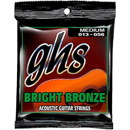 GHS BB40M 80/20 Bronze Medium Acoustic Guitar Strings-thumbnail