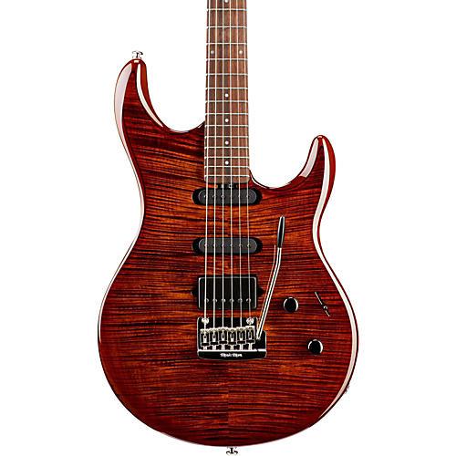 Ernie Ball Music Man BFR Luke III HSS Flame Maple Top Electric Guitar Hazel Burst-thumbnail