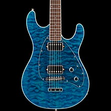 Ernie Ball Music Man BFR Steve Morse HH Quilt Top Electric Guitar w/Reverse Headstock Blue