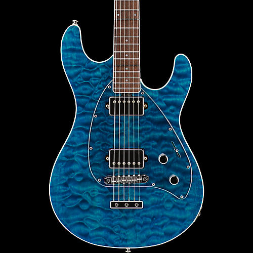 Ernie Ball Music Man BFR Steve Morse HH Quilt Top Electric Guitar ... : quilt top guitar - Adamdwight.com