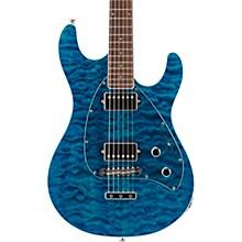 Ernie Ball Music Man BFR Steve Morse HH Quilt Top Electric Guitar w/Reverse Headstock