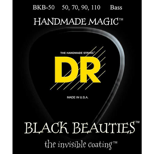 DR Strings BKB-50 Black Beauty Heavy Bass Strings-thumbnail