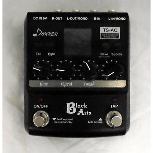 used donner black arts delay effect pedal guitar center. Black Bedroom Furniture Sets. Home Design Ideas