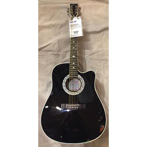 Esteban BLACK SILVER Acoustic Electric Guitar-thumbnail
