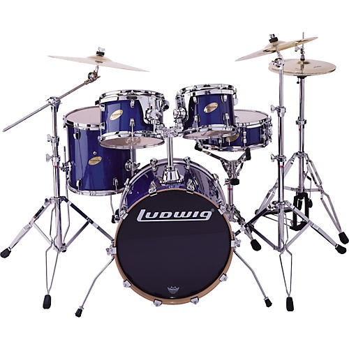 Ludwig BLEM LC305E CS Custom Elite Jazz 5pc Drum Set Blue-thumbnail