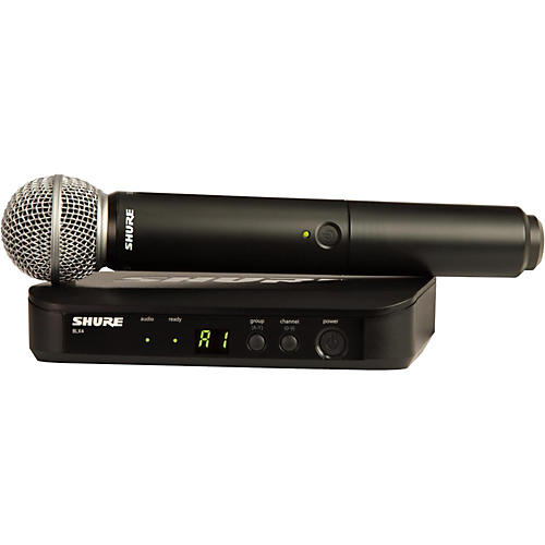 Shure BLX24/SM58 Handheld Wireless System with SM58 Capsule-thumbnail