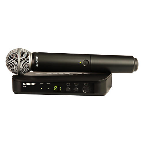 Shure BLX24/SM58 Handheld Wireless System with SM58 Capsule Band K12