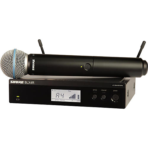 Shure BLX24R/B58 Wireless System with Rackmountable Receiver and Beta 58A Microphone Capsule Band H10