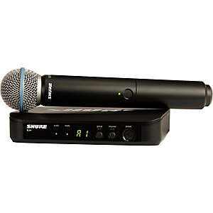 Shure BLX24R/B58 Wireless System with Rackmountable Receiver and Beta 58A M...