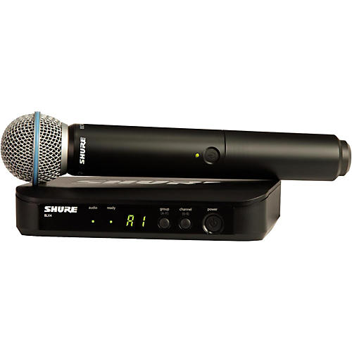 Shure BLX24R/B58 Wireless System with Rackmountable Receiver and Beta 58A Microphone Capsule-thumbnail