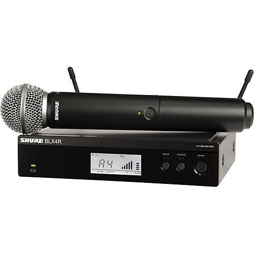 Shure BLX24R/SM58 Wireless System with Rackmountable Receiver and SM58 Microphone Capsule-thumbnail