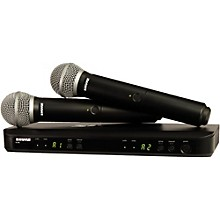 Shure BLX288/PG58 Dual-Channel Wireless System with Two PG58 Handheld Transmitters Level 1 Band J10