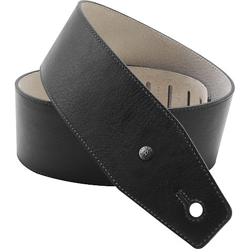 Dunlop BMF Leather Guitar Strap - Classic Black-thumbnail
