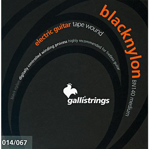 Galli Strings BN140 BLACK NYLON TAPE WOUND Medium Electric Guitar Strings 14-67