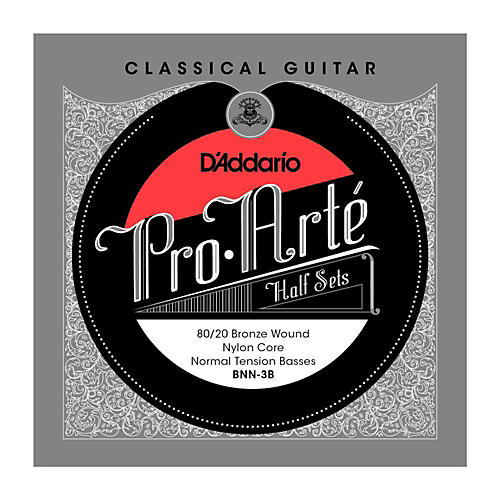 D'Addario BNN-3B Pro-Arte 80/20 Normal Tension Classical Guitar Strings Half Set