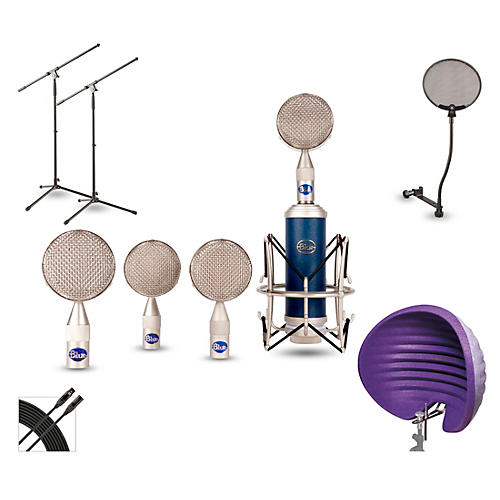 Blue BRS1 HALO Vocal Shield Stand 2 Pack Pop Filter and Cable Kit