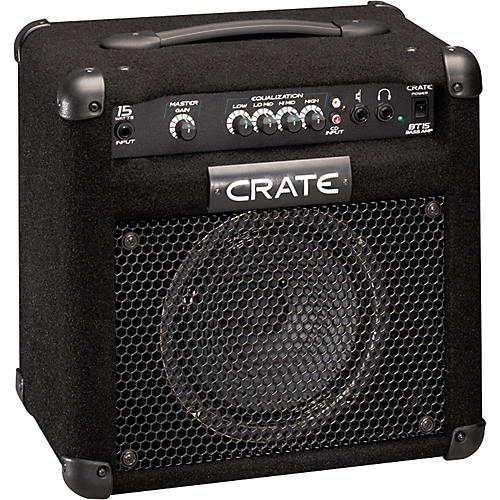 Crate BT15 15W 1x8 Bass Combo Amp Pack