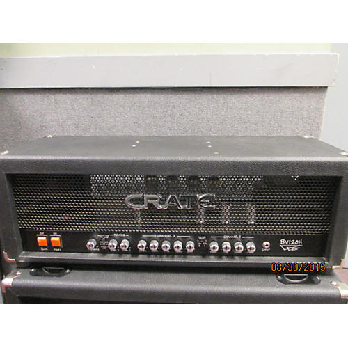 Crate BV120H Blue Voodoo 120W Black Tube Guitar Amp Head-thumbnail