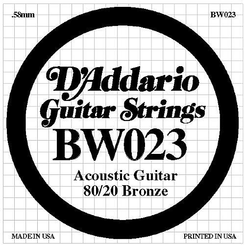 D'Addario BW023 80/20 Bronze Guitar Strings-thumbnail