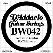 D'Addario BW042 80/20 Bronze Acoustic Guitar Strings
