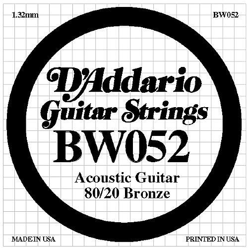 D'Addario BW052 80/20 Bronze Acoustic Guitar Strings-thumbnail