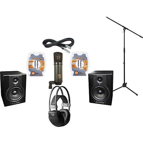 M-Audio BX5A Studio Monitors / MXL V63M Microphone / AKG K44MKII Headphones Recording Package