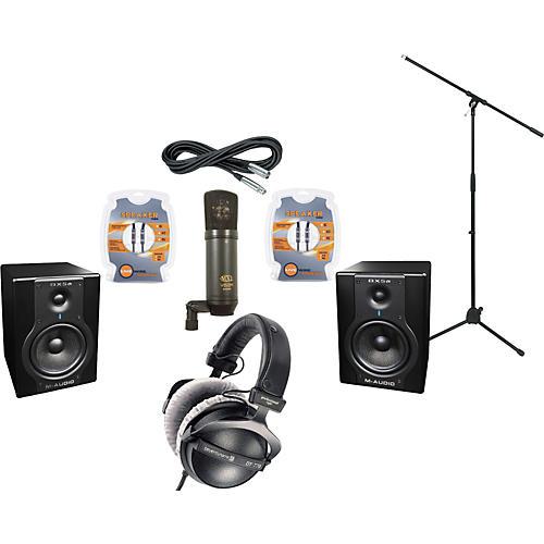 M-Audio BX5A Studio Monitors / MXL V63M Microphone / Beyerdynamic DT-770 Pro-80 Headphones Recording Package-thumbnail