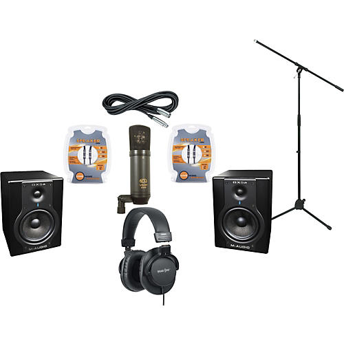 M-Audio BX5A Studio Monitors / MXL V63M Microphone / Gear One G900DX Headphones Recording Package