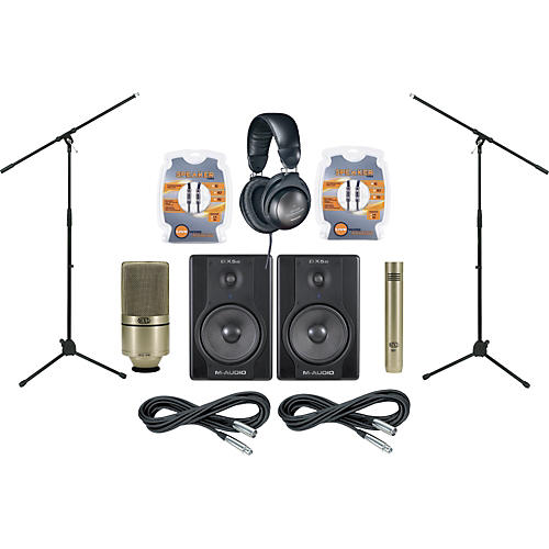 M-Audio BX5a Monitor and Mic Package
