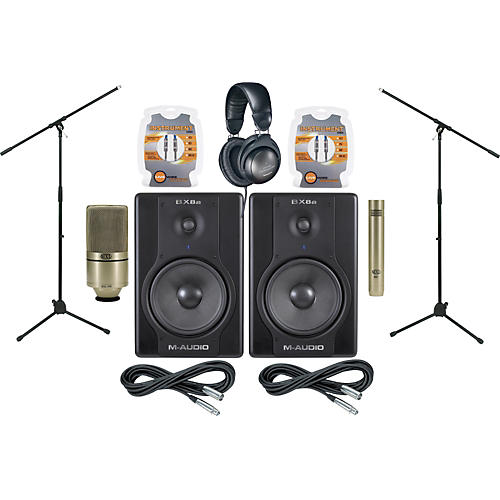 M-Audio BX8a Monitor and Mic Package