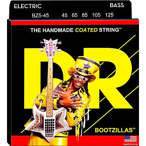 DR Strings BZ5-45 Bootzilla Signature 5-String Bass Strings-thumbnail